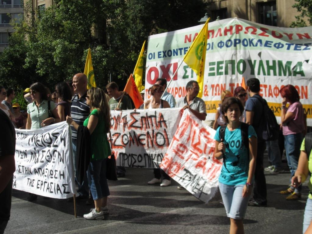 Generalstreik in Athen Oktober 2012